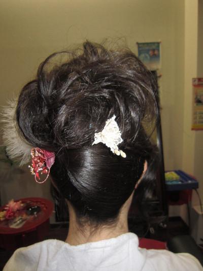 奈良市 成人式 着付けとヘアメイク