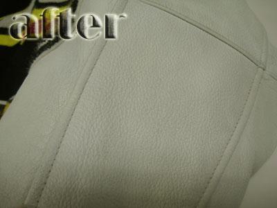 皮革ジャンパーの修復後