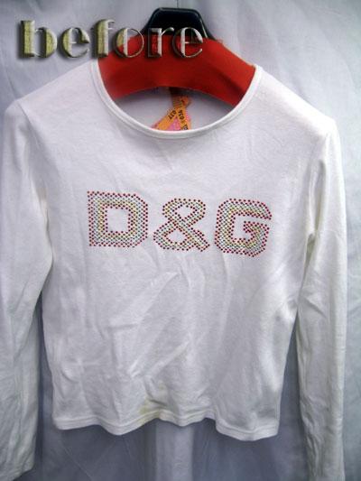 ドルチェアンドガッバーナ(Dolce & Gabbana) Tシャツの黄ばみの染み抜き