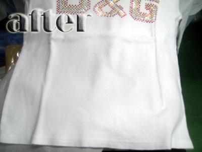 ドルチェアンドガッバーナ(Dolce & Gabbana) Tシャツの黄ばみの染み抜き後