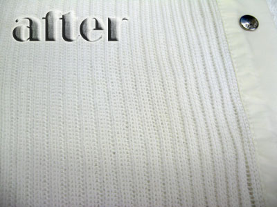 エス マックスマーラ(S Max Mara)セーターの染み抜き後