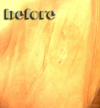 chloe (クロエ)  革スカートの修復前