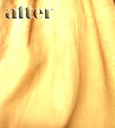 chloe (クロエ)  革スカートの修復後