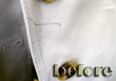 マックスマーラ(MaxMara) ジャケットのボールペンの染み抜き前