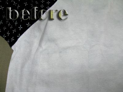 ネイバーフッド(NEIGHBOR HOOD)Tシャツの色移りの染み抜き前