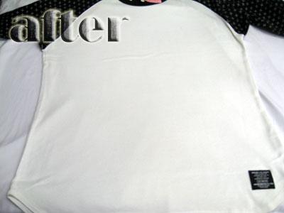 ネイバーフッド(NEIGHBOR HOOD)Tシャツの色移りの染み抜き後