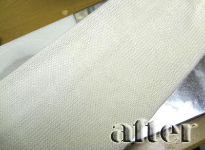 INTERPLANET (インタープラネット)セーター カレーの染み抜き後