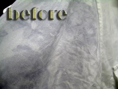 roar (ロアー)ミリタリーシャツの色移りの染み抜き前