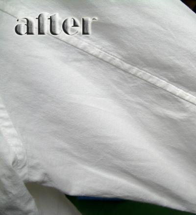 roar (ロアー)ミリタリーシャツの色移りの染み抜き後
