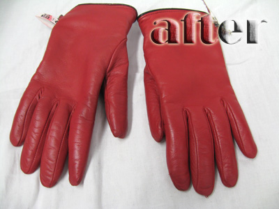レザー(革)手袋の修復後