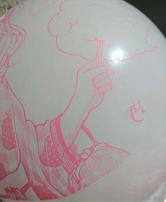 浴衣カナちゃん風船
