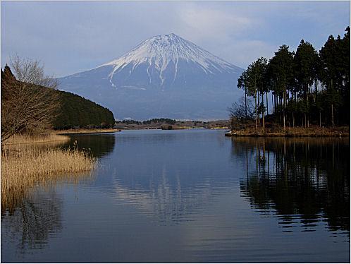 田貫湖から眺めた逆さ富士