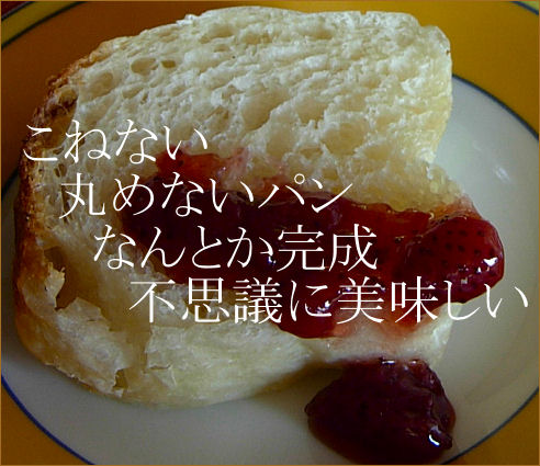 こねない、丸めないパン1