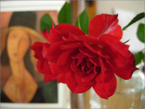 薔薇を飾る3