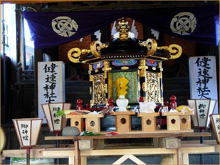 健速神社に祀られている神輿