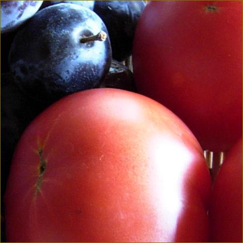 露地物トマトとプルーン