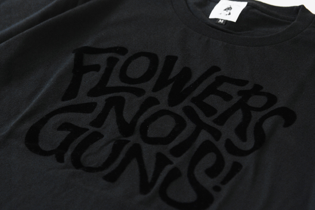 THE NORTH FACE globe walkerJR博多シティ「FLOWERS NOT GUNS!」別注Tシャツ
