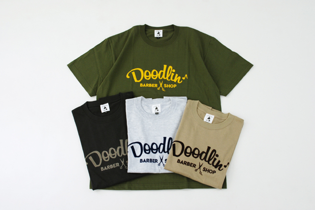 Doodlin Barber Shop 移転二周年Tシャツ制作