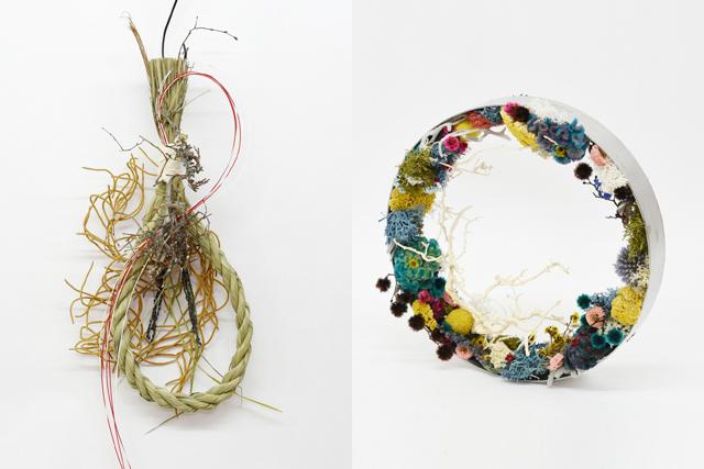 la feuille(ラフイユ)冬のリースとしめ縄飾りセット