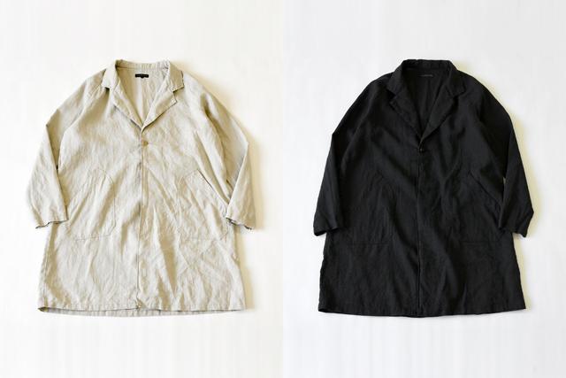 Napron(ナプロン)ATELIE WORK COAT II キナリ、ブラック