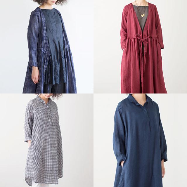 fog linen work(フォグリネンワーク)ワンピース、コート、シャツ各種