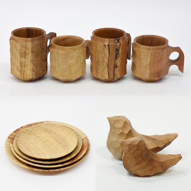Akihiro Woodworks(木工秋廣)ジンカップ、プレート、chicci