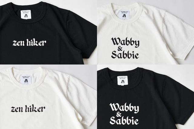 Tacoma Fuji Records(タコマフジレコーズ)2020ss T-shirts Zen Hiker、Wabby & Sabbie