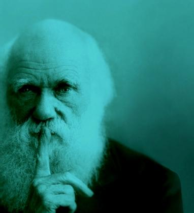 晩年のCharles Darwin。