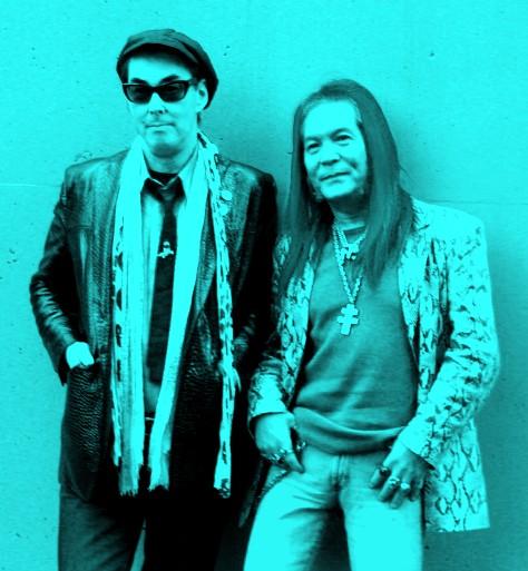 サンハウス再結成インタビューの2人(鮎川誠と柴山俊之)。