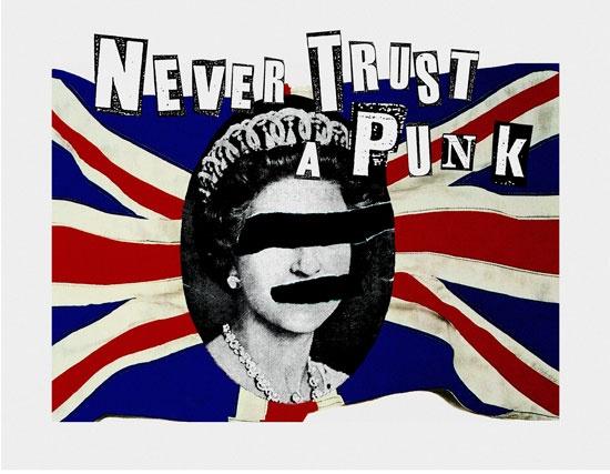 Never Trust A Hippyk by Jamie Reid
