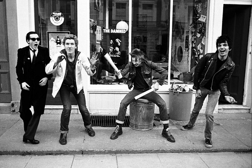 The Damned in front of the Stiff Records (1977)