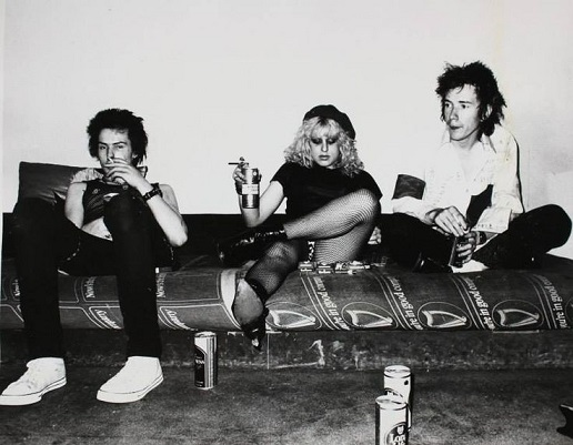 Sid Vicious, Nancy Spungen and Johnny Rotten at 45 Gunter Grove June 1978