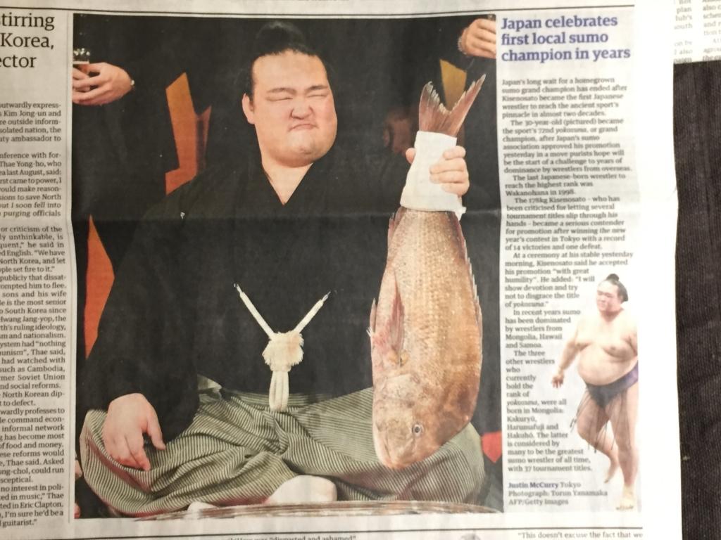 日本人横綱誕生は国際ニュースに