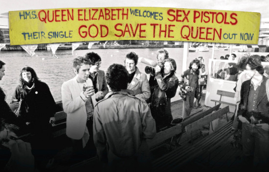 JUBILEE BOAT BANNER (Sex Pistols)