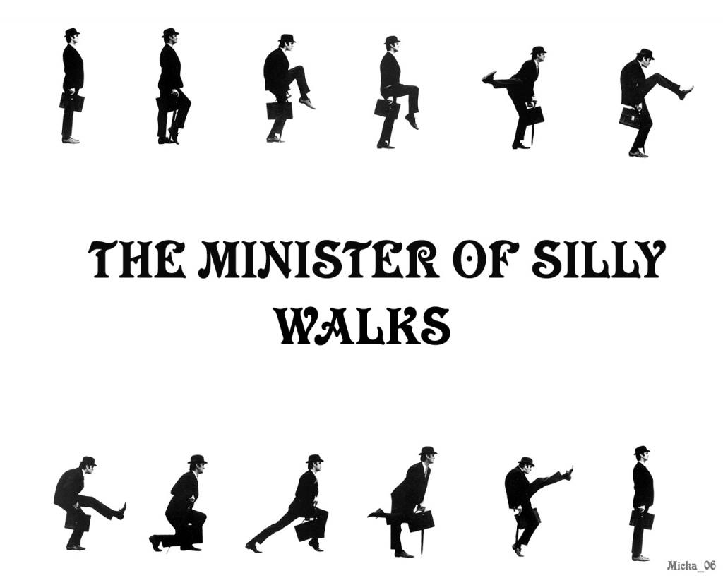 「The Mminister of Silly Walks」