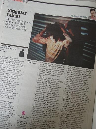 Peter Perrett's New Album on the Guardian.JPG