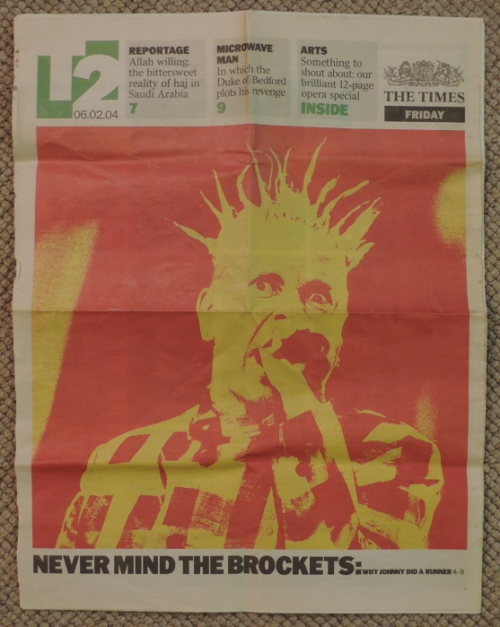 20040206 Johnny Rotten on The Times