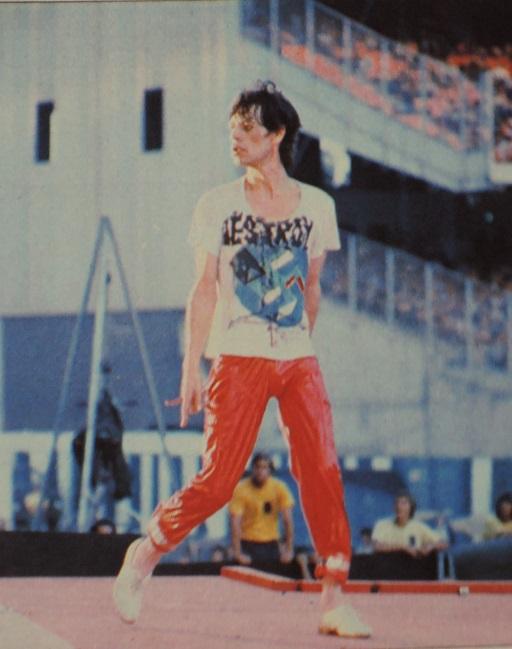 Mick Jagger at Anaheim (1978)