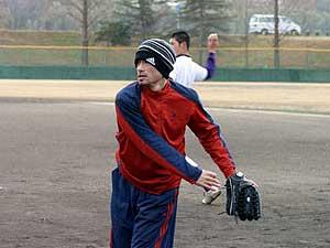 名電にイチロー選手が練習に来たときの写真