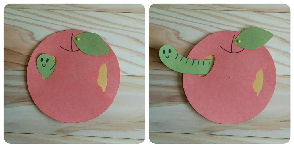 丸い形がくるりと変身!りんご