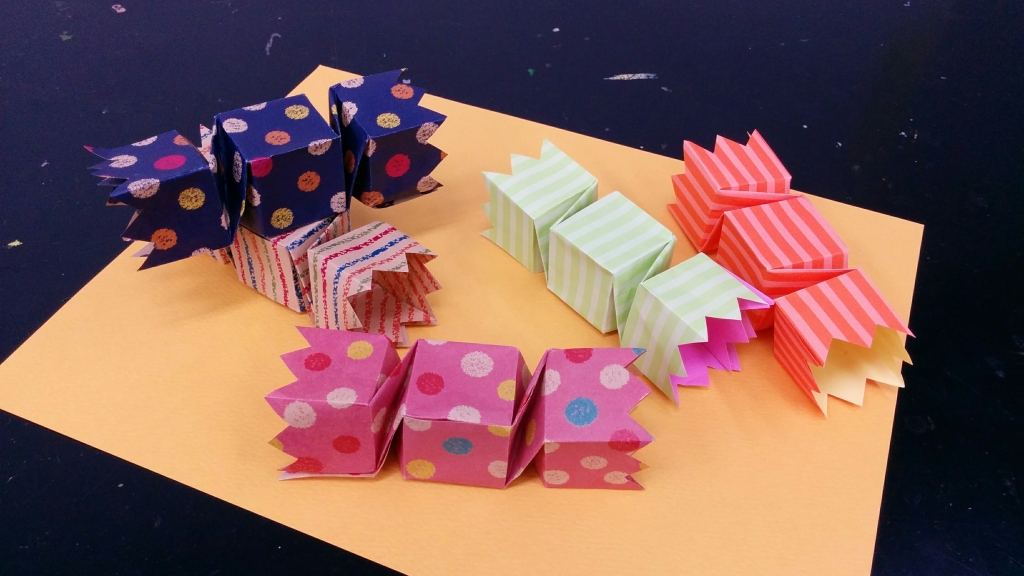 ハロウィンのキャンディーボックス
