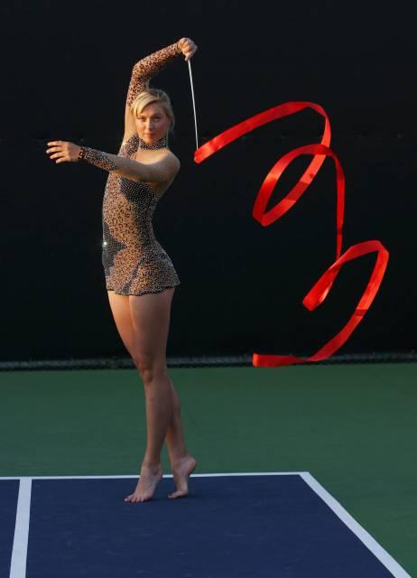 シャラポワ選手の北京オリンピック用プロモーション画像