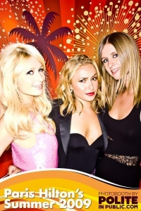 Hayden Panettiere with Paris and Nicky Hilton at the Paris Hilton Summer Party