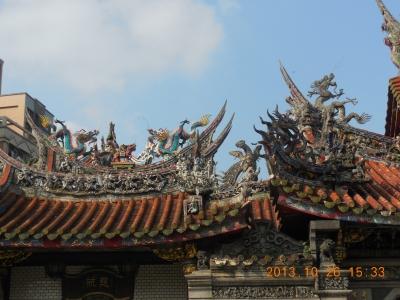 龍の屋根飾り