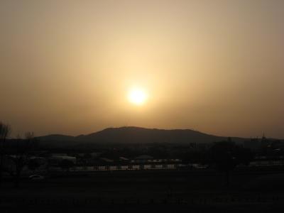 奈良の夕日