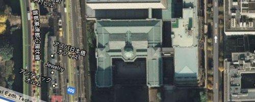 ビジネスの噂・裏技・裏話_日本銀行を空から眺めると「円」になっている