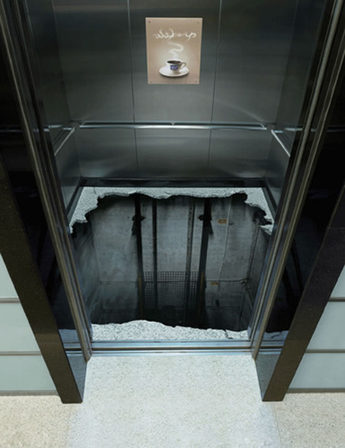 おもしろ画像の噂・裏技・裏話_恐くて乗れないエレベーター