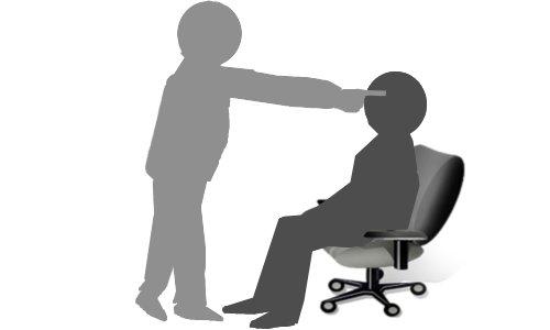 身体の噂・裏技・裏話_額を固定すると人は椅子から立てなくなる
