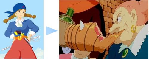 漫画・アニメ・キャラクターの噂・裏技・裏話_天空の城ラピュタに登場するドーラの若い頃