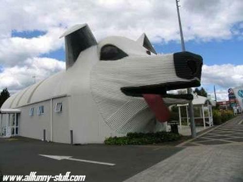 動物の噂・裏技・裏話_犬型の建物